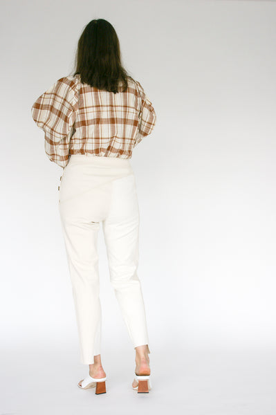 Rejina Pyo Lucie Trousers in Ivory Mix back view