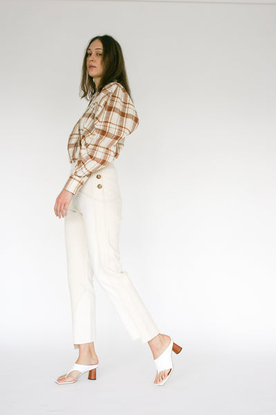 Rejina Pyo Lucie Trousers in Ivory Mix side view