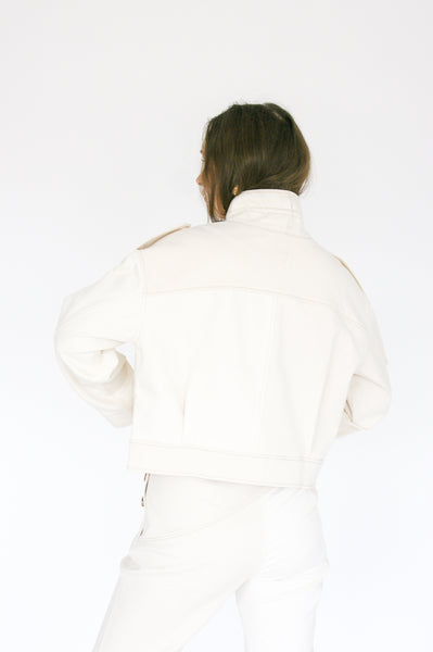 Rejina Pyo Carly Jacket in Ivory Mix back view