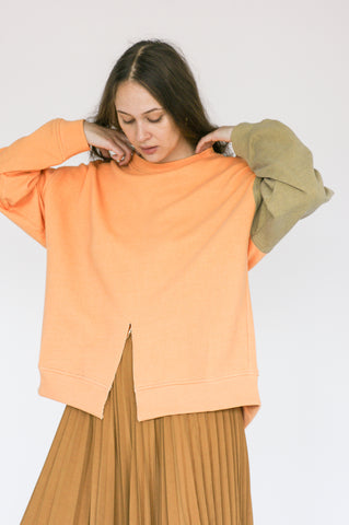 Rejina Pyo Charlie Sweater in Yellow Mix front view