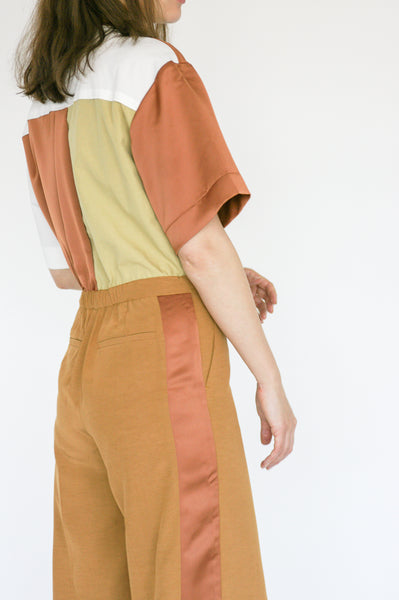 Millie Jumpsuit in Caramel back view