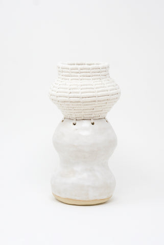 Karen Tinney Vessel #686 in White front view