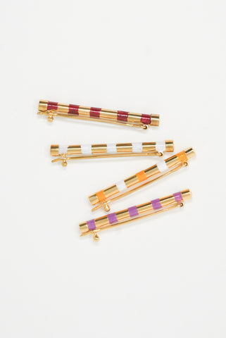 Abby Carnevale Striped Barrette group view
