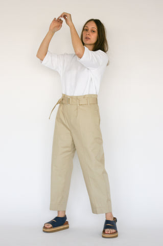 Sofie D'Hoore Pride Pant in Sand on model view front