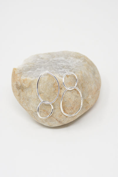 Paso Earrings e01.02 in Silver
