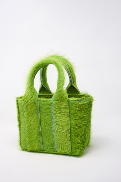 Clyde Snack Bag in Acid Green Pony