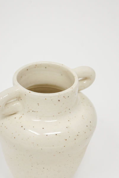 Lost Quarry Hand Built No. 00082 - Single Loop Handles in Speckle White Clay detail view