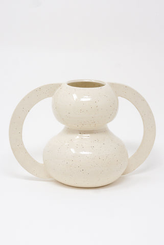 Lost Quarry Arches No. 00090 - Medium Vessel with Perimeter Handles in Speckle White Clay front view