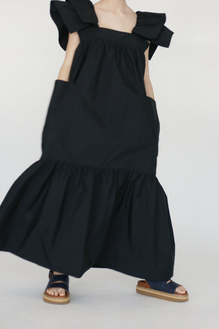Sofie D'Hoore Dallas Dress in Black on model view front
