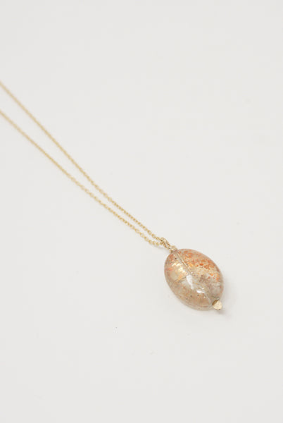 Mary MacGill Stone Drop Necklace in Moss Sunstone