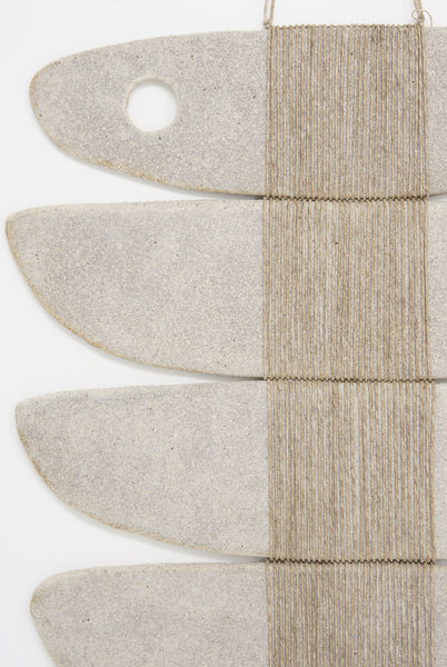 Amy Dov Clay and Linen Wall Hanging in Natural