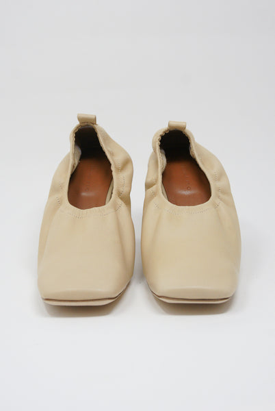 Rejina Pyo Edie Pump - Leather in Light Beige front view