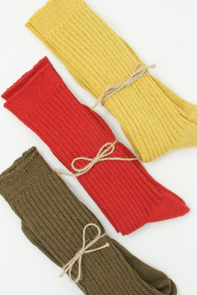 Ichi Antiquites Linen Rib Socks group view