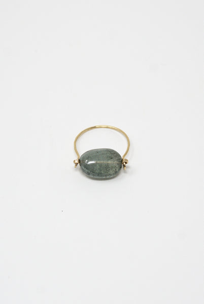 Mary MacGill Stone Ring in Moss Aquamarine