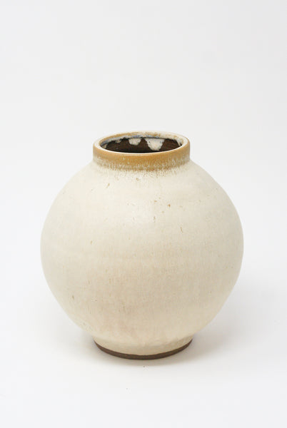 Raina Lee Moon Jar in Creme Brulee front view