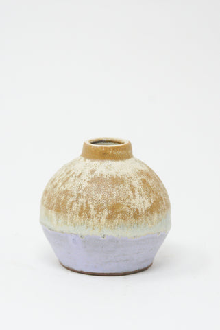 Raina Lee Bulb Vase in Brulee side