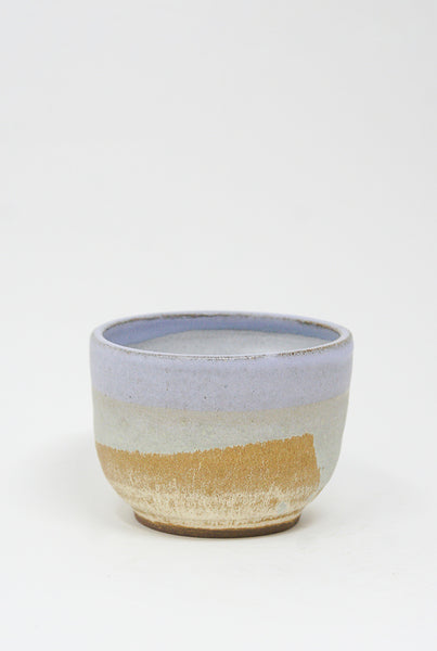 Raina Lee Matcha Bowl in Lilac & Creme Brulee front view