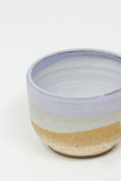 Raina Lee Matcha Bowl in Lilac & Creme Brulee interior view