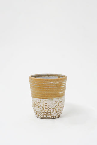 Raina Lee Tea Cup in Creme Brulee + Texture front view