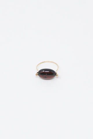 Mary MacGill Stone Ring in Amber (dark)