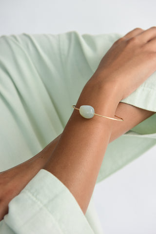 Mary MacGill Stone Cuff in Ceylon Moonstone on model view