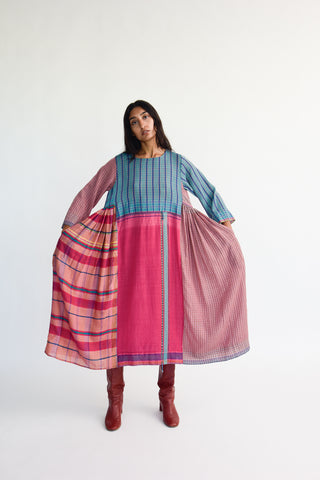 Injiri Dress in Multi on model view front