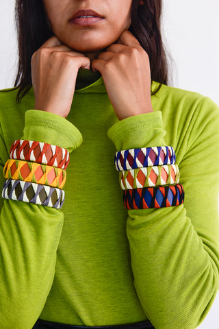 Hatori Leather Bangles on model group view