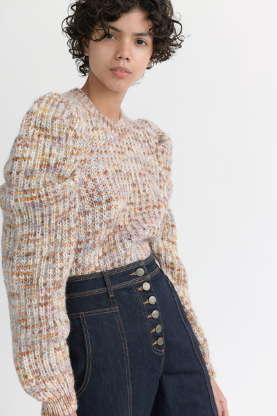 Ulla Johnson Rosina Pullover in Fawn side