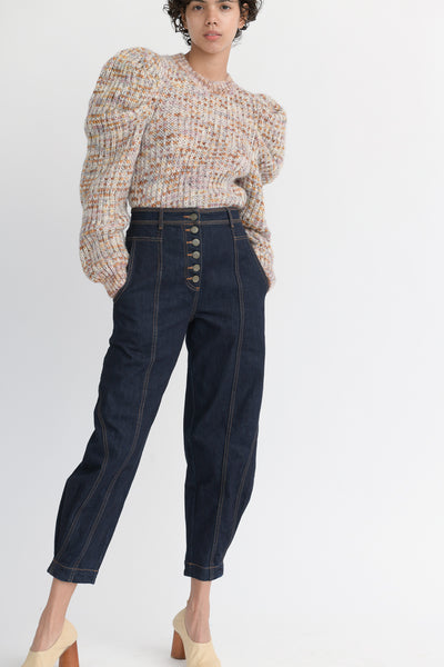 Ulla Johnson Keaton Jean in Raw Denim front