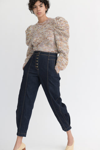 Ulla Johnson Keaton Jean in Raw Denim side