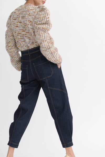 Ulla Johnson Keaton Jean in Raw Denim back