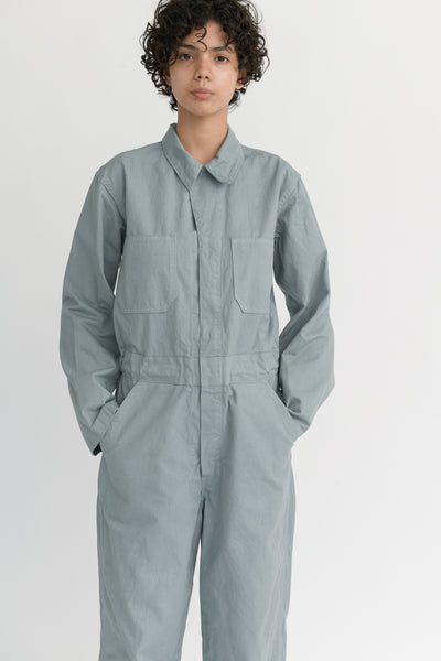 As Ever Zip Jumpsuit in Soapstone pockets