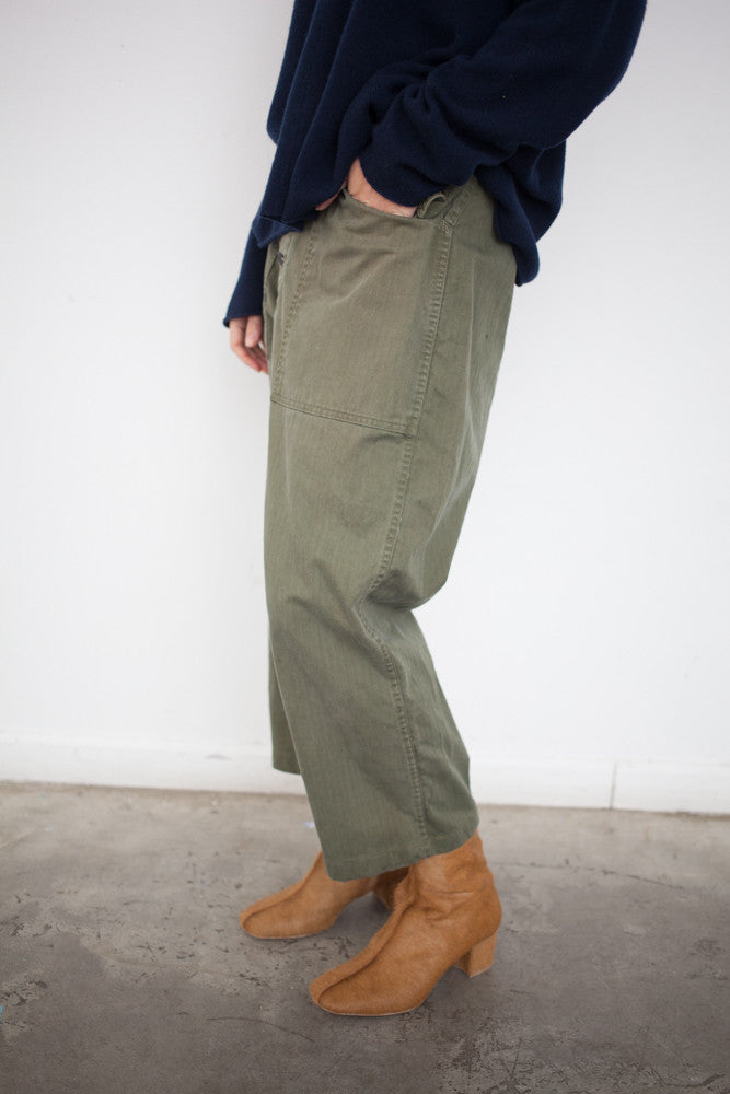 As Ever Tanker Pant in Olive | Oroboro Store | Brooklyn, New York