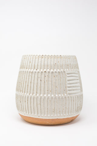 Mt. Washington Large Planter in Speckled White | Oroboro Store | New York, NY