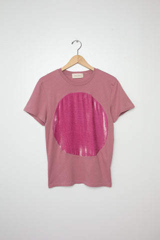 Correll Correll Velvet Circle T-Shirt in Rose