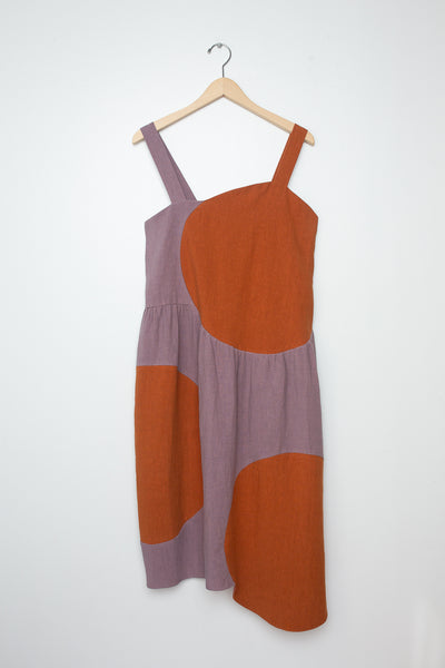 Correll Correll Olka Dress in Lilac w/ Bronze Circles