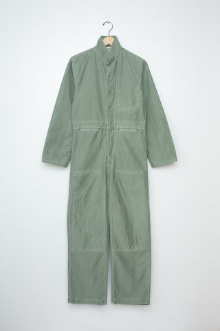 Caron Callahan Fincher Jumpsuit - Pigment Dyed Cotton Twill in Sage