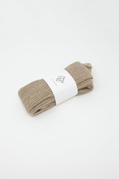 Baserange Buckle Overankle Socks in Camel