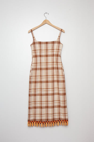 Rejina Pyo Emilia Dress in Brown Check
