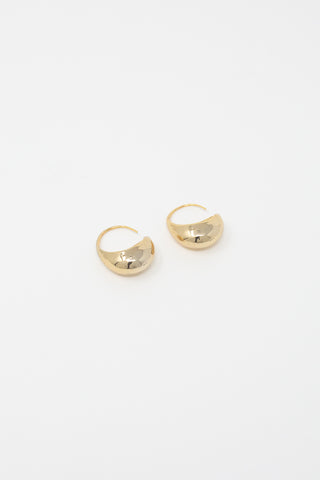 Rejina Pyo Moon Hoops in Gold Plated