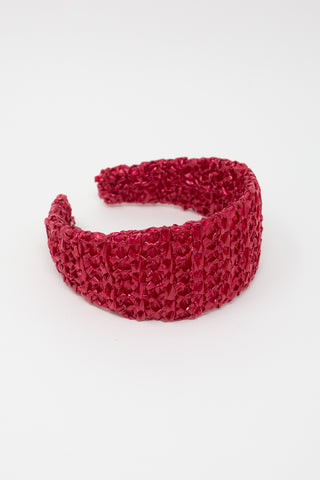 Reinhard Plank Passata Nylon Headband in Red