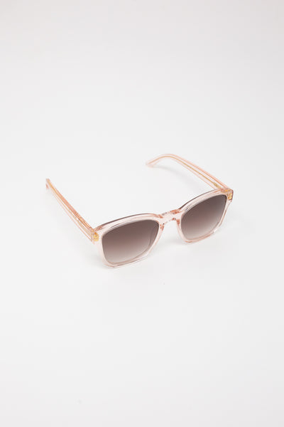 Eva Masaki Sunglasses BQE in Rose diagonal front view