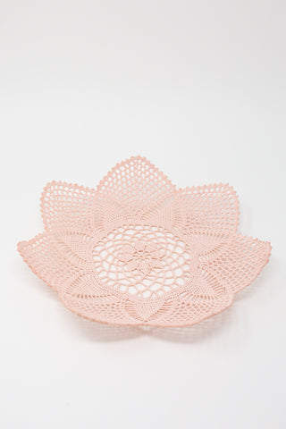 Neonette Large Lace Bowl in Pale Pink