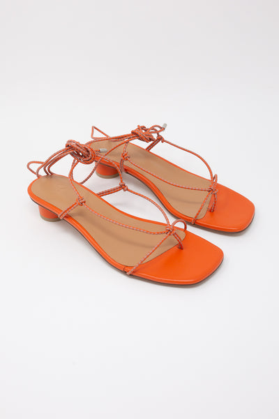 LOQ Dora Sandal in Lava Multi diagonal front view