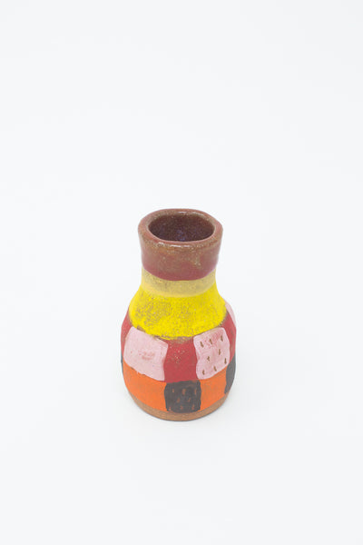 Shino Takeda Bud Vase in Yellow, Pink, Red, Orange & Black | Oroboro Store | New York, NY