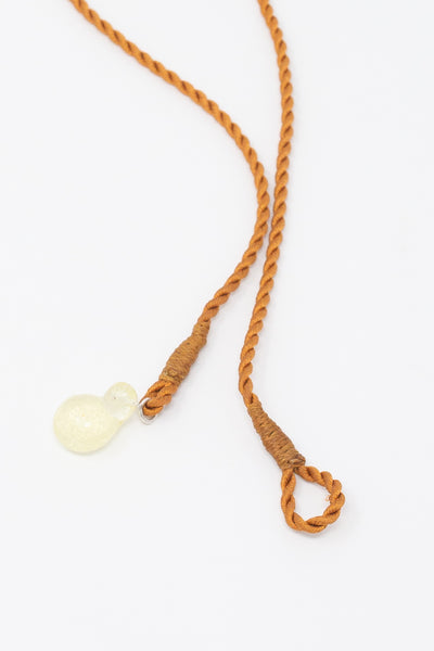 Leigh Miller Beachcomber Choker - Japanese Silk Cord with Hand Cast Artisan Glass back toggle detail view