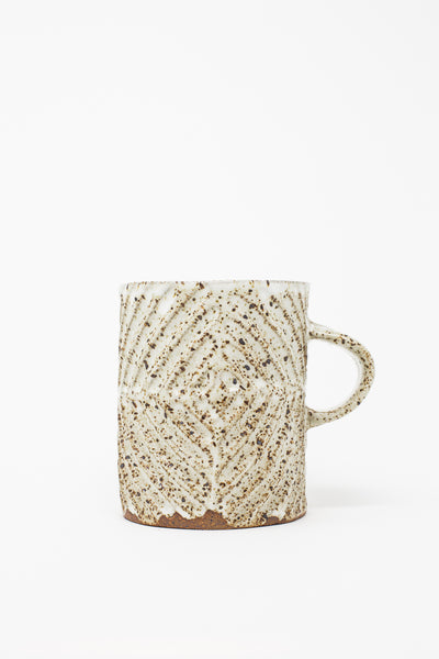 Mt. Washington Hand Built Mugs in Speckled White | Oroboro Store | New York, NY
