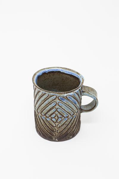 Mt. Washington Hand Built Mugs in Dark Blue | Oroboro Store | New York, NY