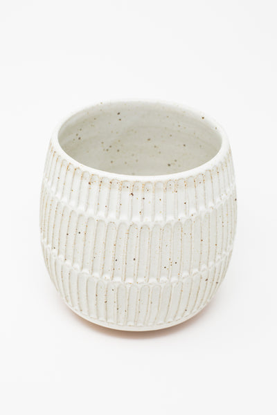 Mt. Washington Small Planter in Speckled White | Oroboro Store | New York, NY
