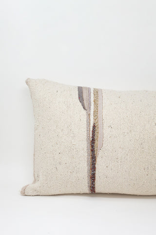 Jess Feury Lumbar Pillow in Neutral with Lavender, Purple and Gold